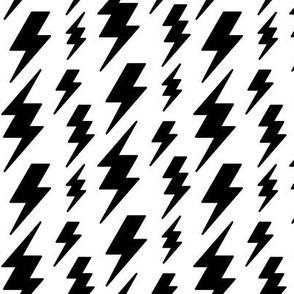 lightning bolts black on white » halloween - monochrome - black and white
