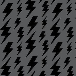lightning bolts black on dark grey » halloween - monochrome