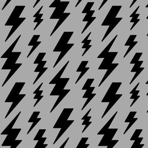 lightning bolts black on light slate grey » halloween - monochrome