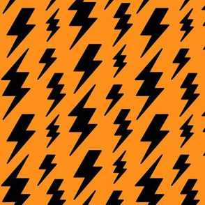 lightning bolts black on orange » halloween