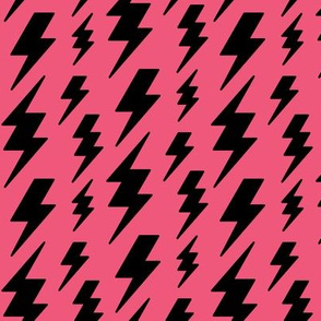 lightning bolts black on hot pink » halloween