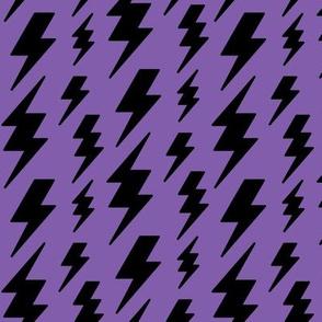 lightning bolts black on purple » halloween