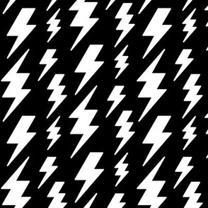 lightning bolts white on black » halloween - monochrome - black and white