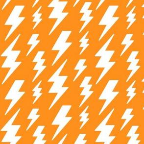 lightning bolts white on orange » halloween
