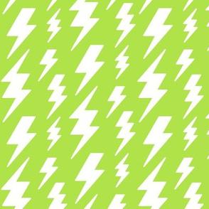 lightning bolts white on lime green » halloween