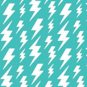 lightning bolts white on teal blue » halloween
