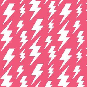 lightning bolts white on hot pink » halloween
