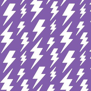 lightning bolts white on purple » halloween