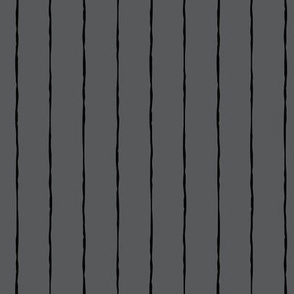 pinstripes black on dark grey » halloween - monochrome