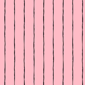 pinstripes black on light baby pink » halloween