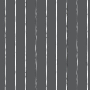 pinstripes white on dark grey » halloween - monochrome