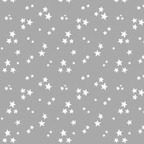 starry white on light slate grey » halloween - monochrome stars