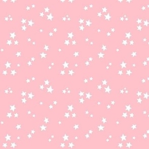 starry white on light baby pink » halloween stars