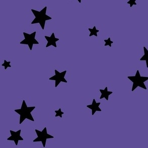 starry LG black on purple » halloween stars