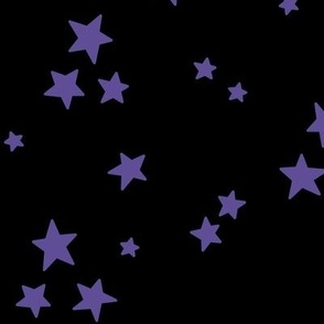 starry LG purple on black » halloween stars
