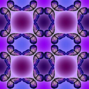 Purple Butterfly Circle Check