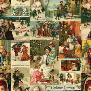 Vintage Victorian Christmas Collage