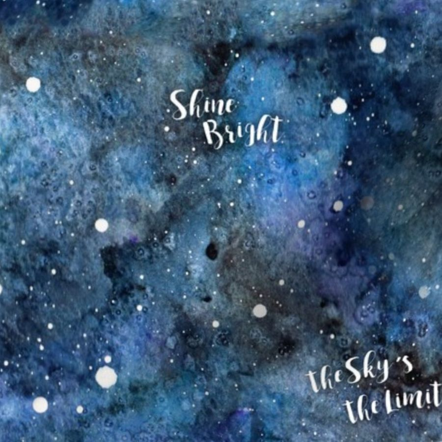 Skys The Limit Quotes On Night Sky Spoonflower