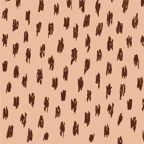 Wild spots - Burgundy/Ginger