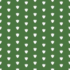 Dark Green Blossom Dots