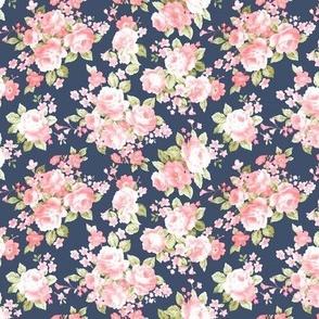 Miniature Navy Blush Floral