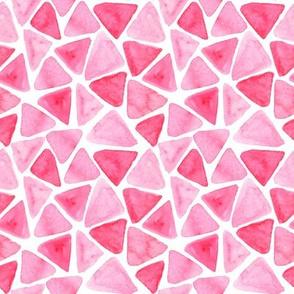 Pink watercolor mosaic