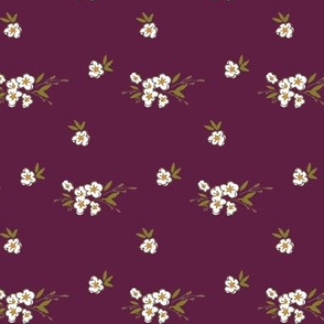 Ditsy Floral - Bright Plum