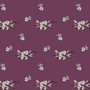 Ditsy Floral - Soft Plum