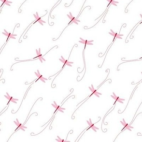 Flying dragonflies