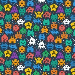 Retro Space Invaders Old School Video Game
