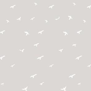 Warm Gray Flying Birds