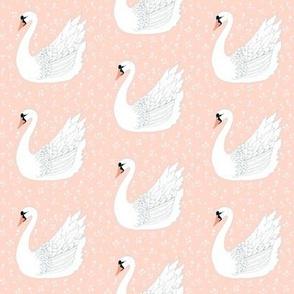 White Swan on Peach