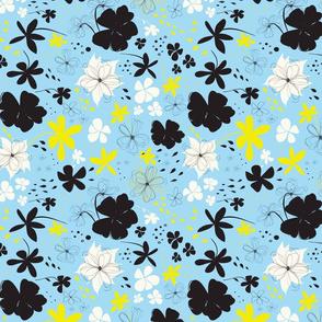 Spring flowers | Black Blue
