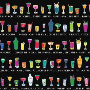 Line 'em up! - Speakeasy Cocktails on Black