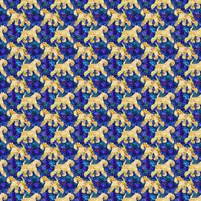 Cosmic trotting Kerry Blue Terrier - night