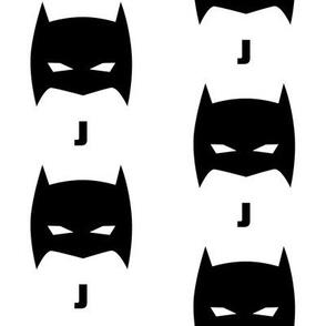 Superhero Bat Mask J Initial