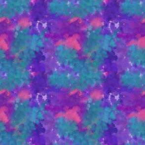 Bohemian Bear Watercolors | Bright Purple Teal Pink