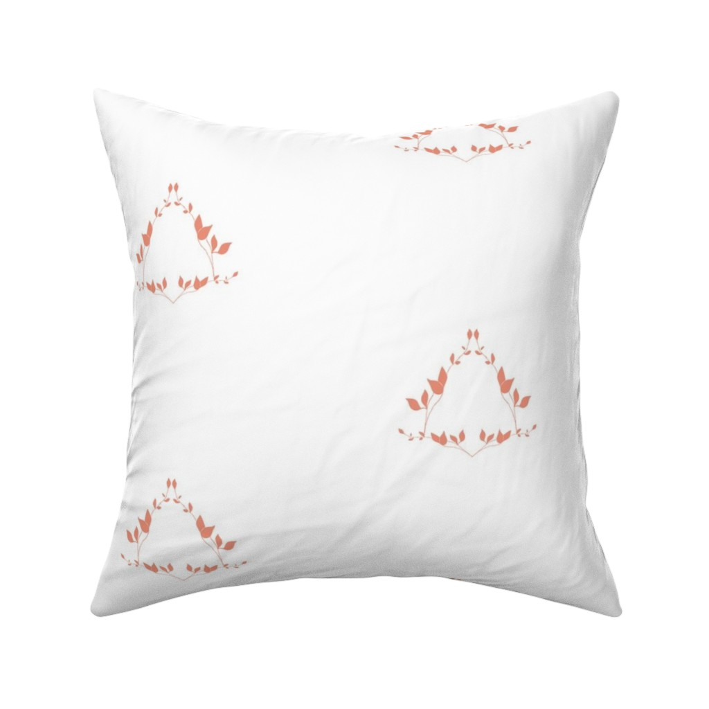 Catalan Throw Pillow featuring Floral Coral by arboreal