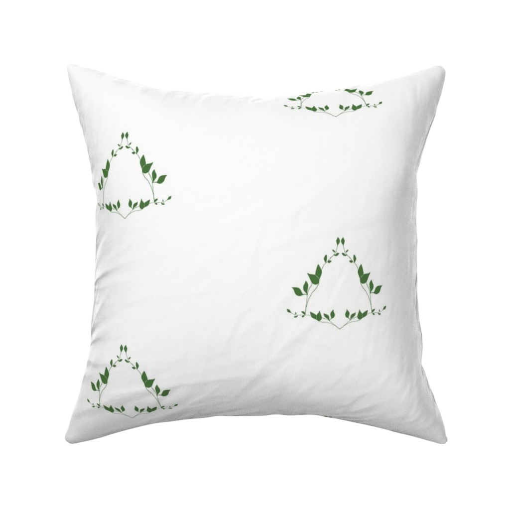 Catalan Throw Pillow featuring Floral emerald by arboreal