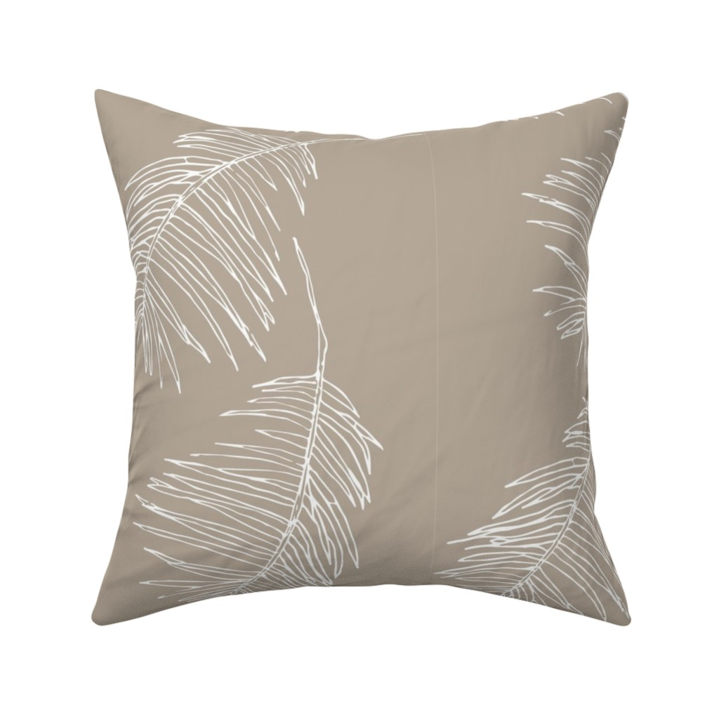 Catalan Throw Pillow featuring Palm taupe by arboreal