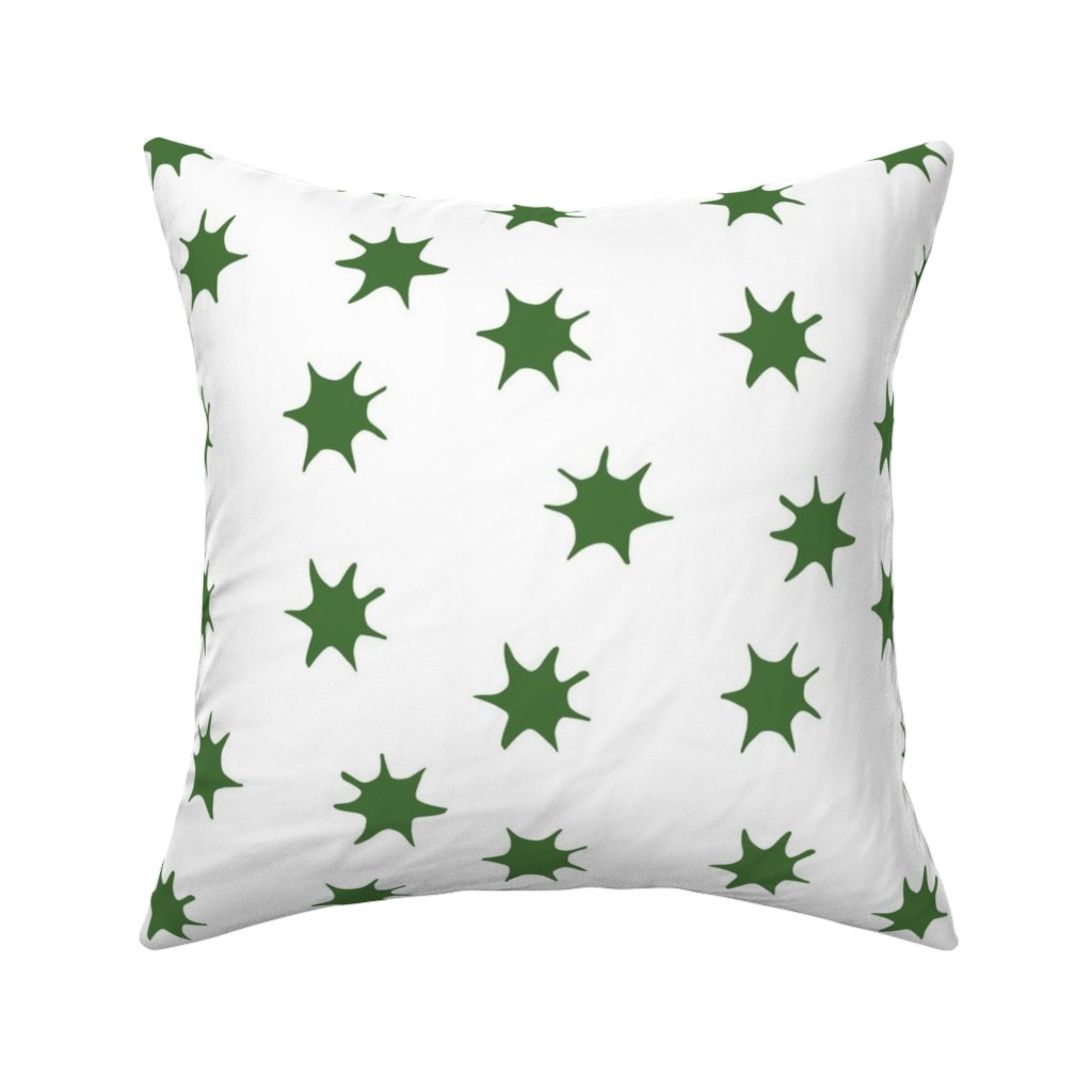 Catalan Throw Pillow featuring Star emerald by arboreal
