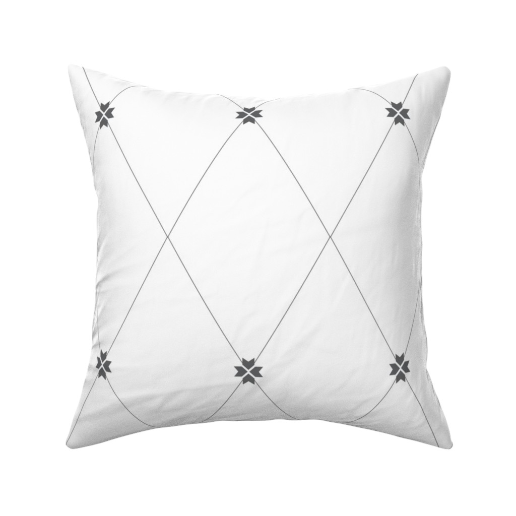 Catalan Throw Pillow featuring Trellis Charcoal by arboreal