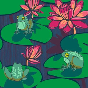 1 frog + night lily
