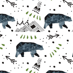 Little Bear/Arrows/Mountains/Green