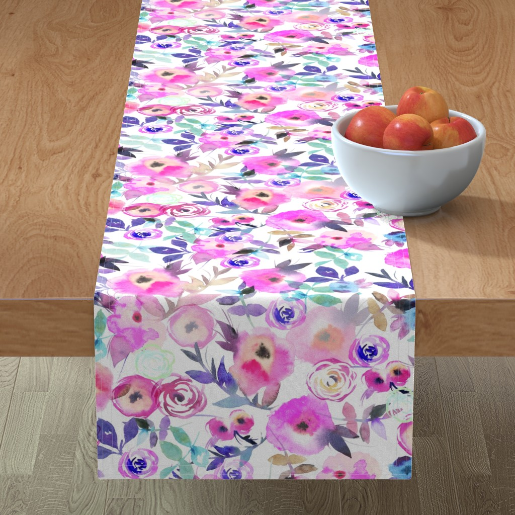 Minorca Table Runner featuring flower's pattern  by holaholga