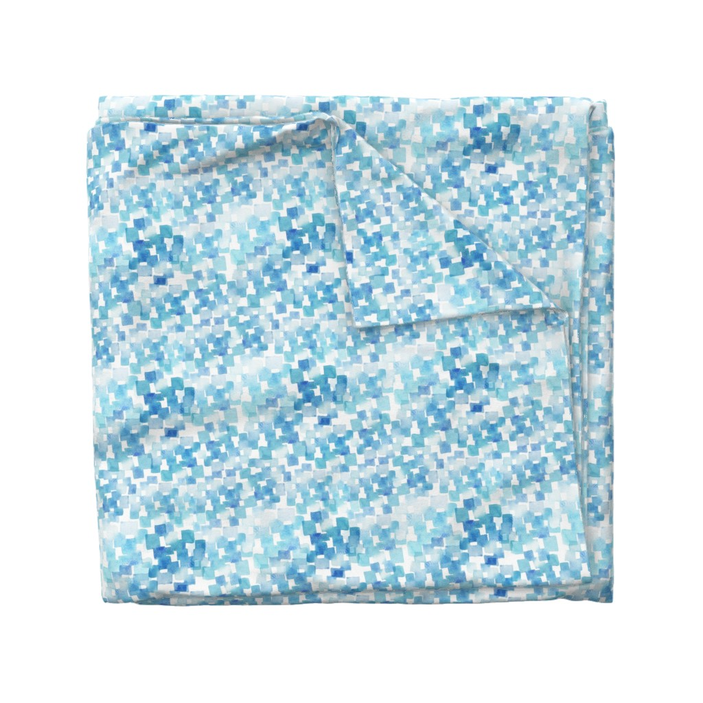 Wyandotte Duvet Cover featuring light blue watercolor pattern  by holaholga