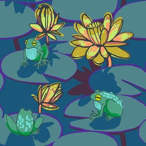 4 frog + night lily