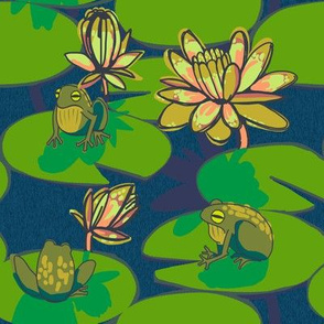 5 frog + night_lily