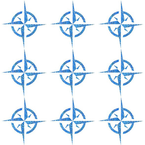 Compass Rose 6in Lapis Sand