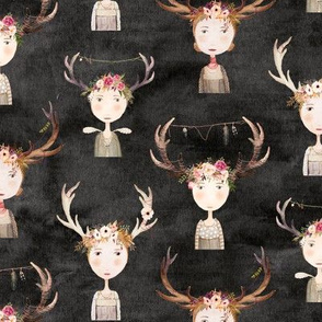 antler girls black